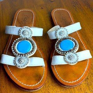 Skemo Collection Beaded Sandal Embellished Stone